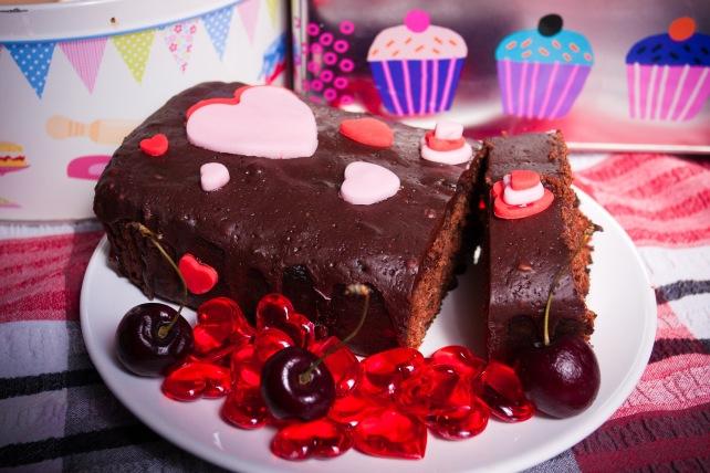 Dark Chocolate & Morello Cherry LoafCake