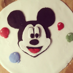 Mickey Mouse birthdaycake